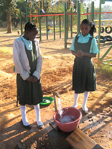 Testing the School's new water supply